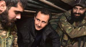 le-president-bachar-al-assad-centre-parle-avec-ses-troupes-dans-le-quartier-jobar-le-31-decembre-2014_5180115